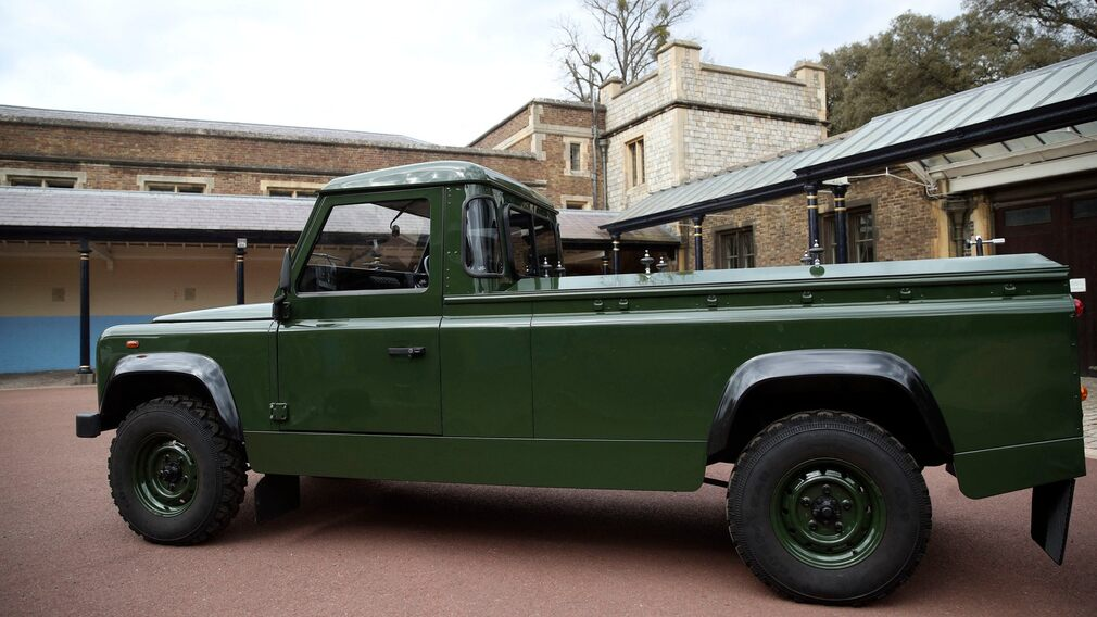 Land Rover taken to the coffin church.