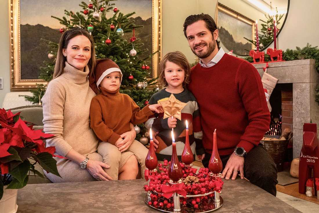 Prince Carl Philip, Princess Sophia, Prince Alexander and Prince Gabriel send Christmas greetings from their home at Stockholm's Royal Djurgården.