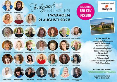 Record number of book guests at this year's Feelgood Festival in Waxholm