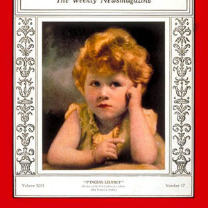 Three-year-old Princess Elizabeth (later Queen Elizabeth II of Great Britain) on the cover of Time Magazine in 1929.