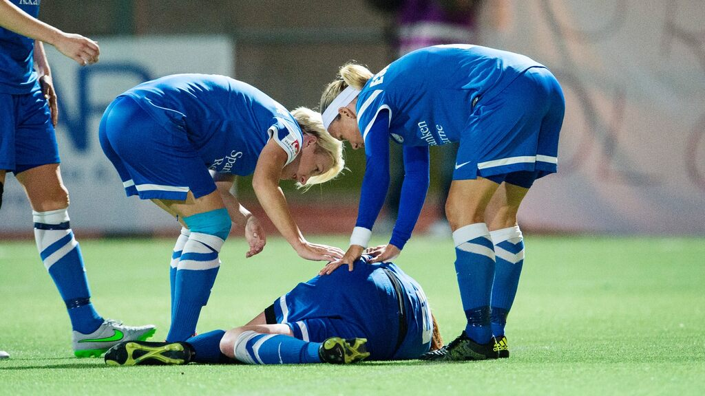The risk of developing a concussion is twice that of girls in soccer