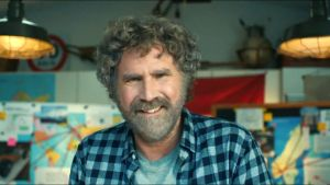 Will Ferrell in the advertisement related to Super Bowl.