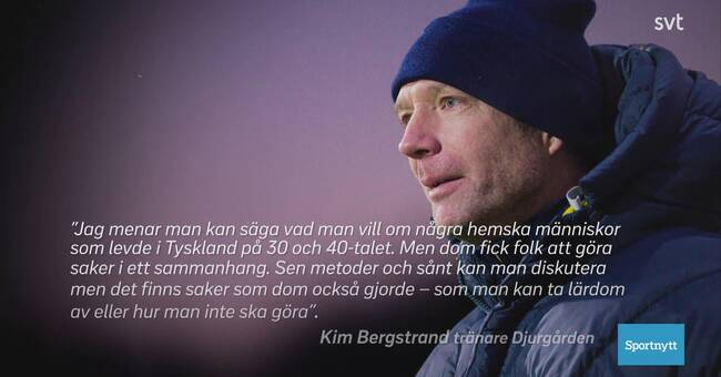 Djurgarden's coach apologizes after commenting on Hitler-Germany