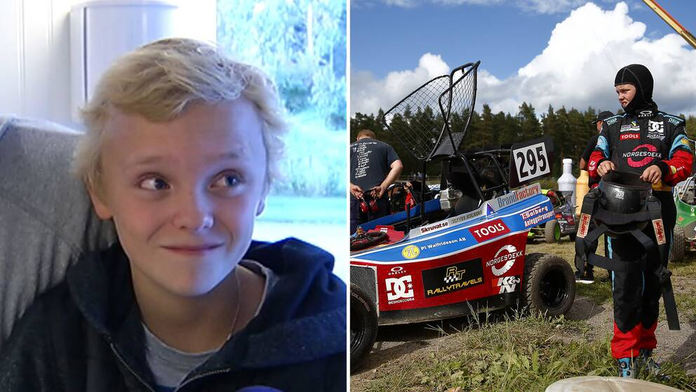 Oliver Solberg as a child and teenager.