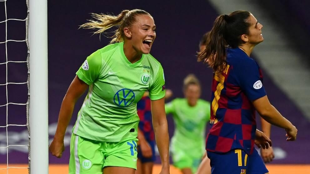 Scorer, Fredulina Rulfo, in the CL semi-final against Barcelona