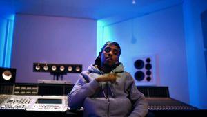 Yassin in the studio