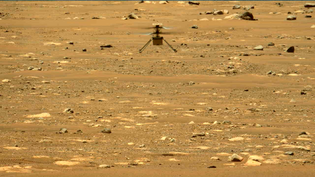 NASA's Mars helicopter flew for the second time.  Creativity went a little higher this time