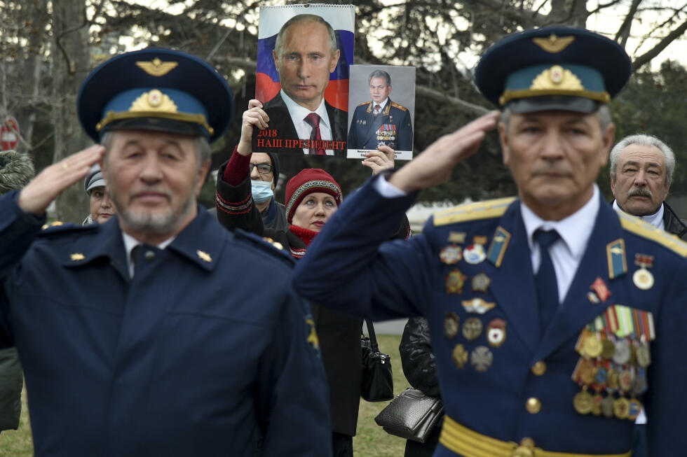 In February this year, the Russian army celebrates with a parade and music in Sevastopol, in the Crimean peninsula of Ukraine.