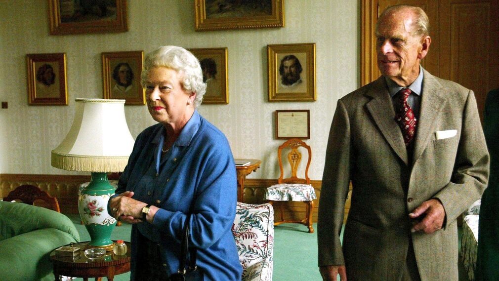 British royal couple in Scotland in 2005.