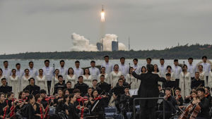 The Xian Symphony Orchestra accompanied the launch ceremony on April 29.