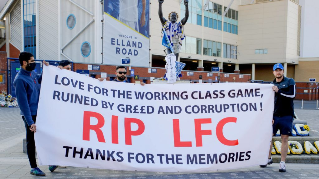 Protests against the Premier League sparked the match between Leeds and Liverpool - both players and fans showed their displeasure    Sports