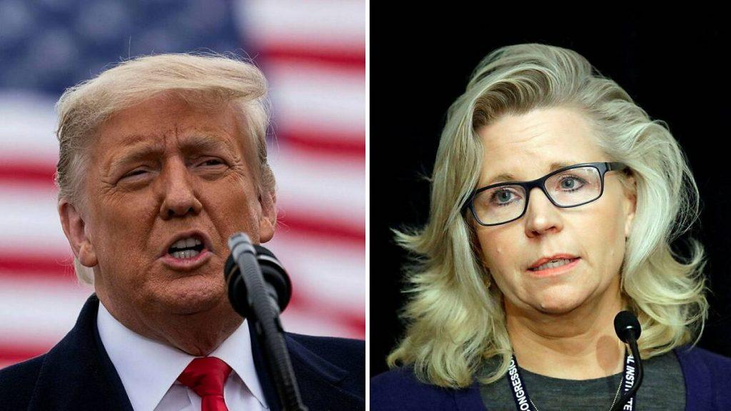 Hard-line Republican Representative Liz Cheney was criticized by Trump