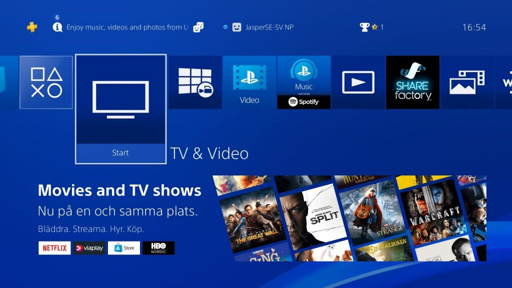 PlayStation introduces a new way to use TV and video on PlayStation®4