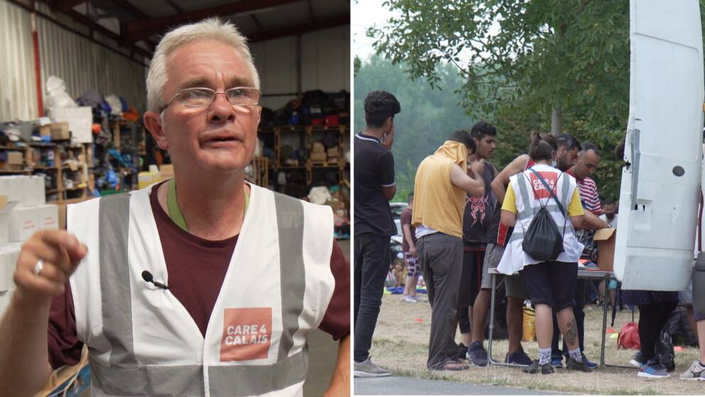 Volunteer Andy Brown protects vulnerable migrants in French camps