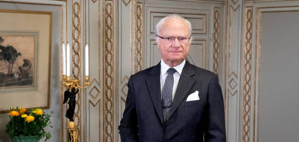 The king refers to the Christian hope of the people of Sweden