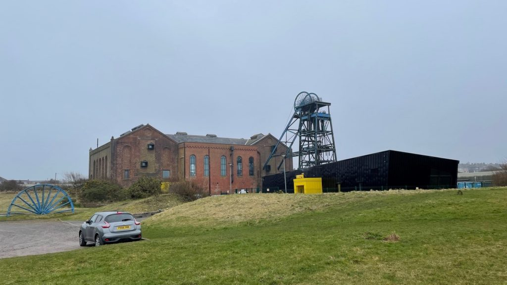 Den gamla kolgruveanläggningen i Whitehaven som lades ner 1986.