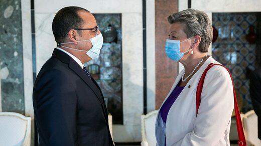 In May, EU Commissioner Ylva Johansson visited Tunisia and met with Prime Minister Hicham El Meshichi.