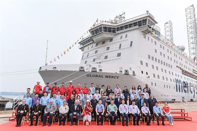 Stena RoRo has delivered the world's largest civilian hospital ship, Global Mercy™ to Mercy Ships