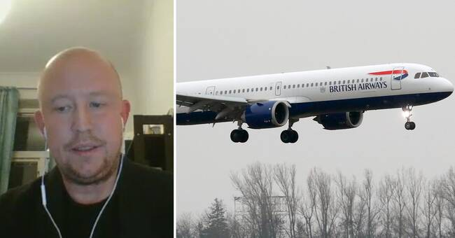 A passenger plane from Great Britain landed in Sweden