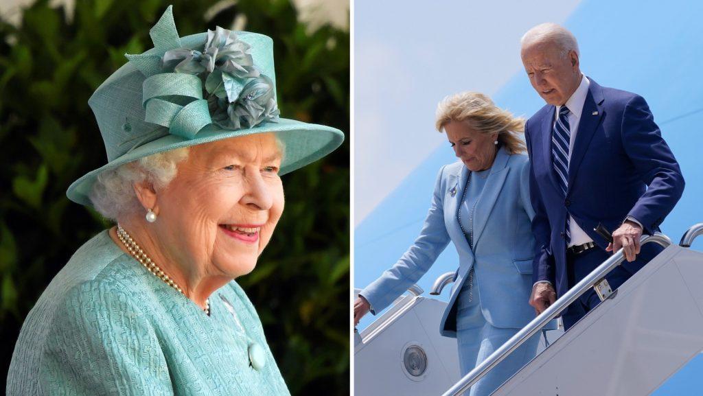 Joe Biden meets Queen Elizabeth at Windsor Castle