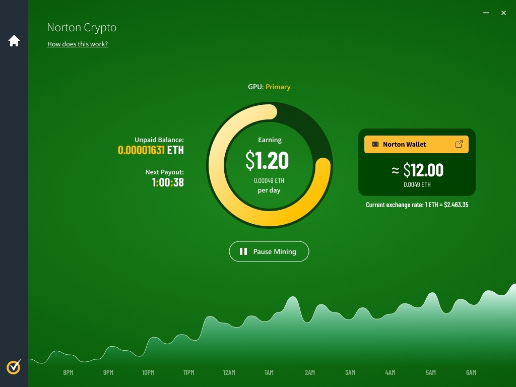 You can now generate cryptocurrency with Norton Antivirus.  If you want your computer to slow down even more