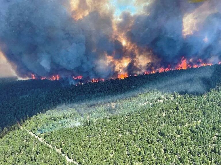 The record-breaking village of Lytton in Canada is on fire and has been evacuated