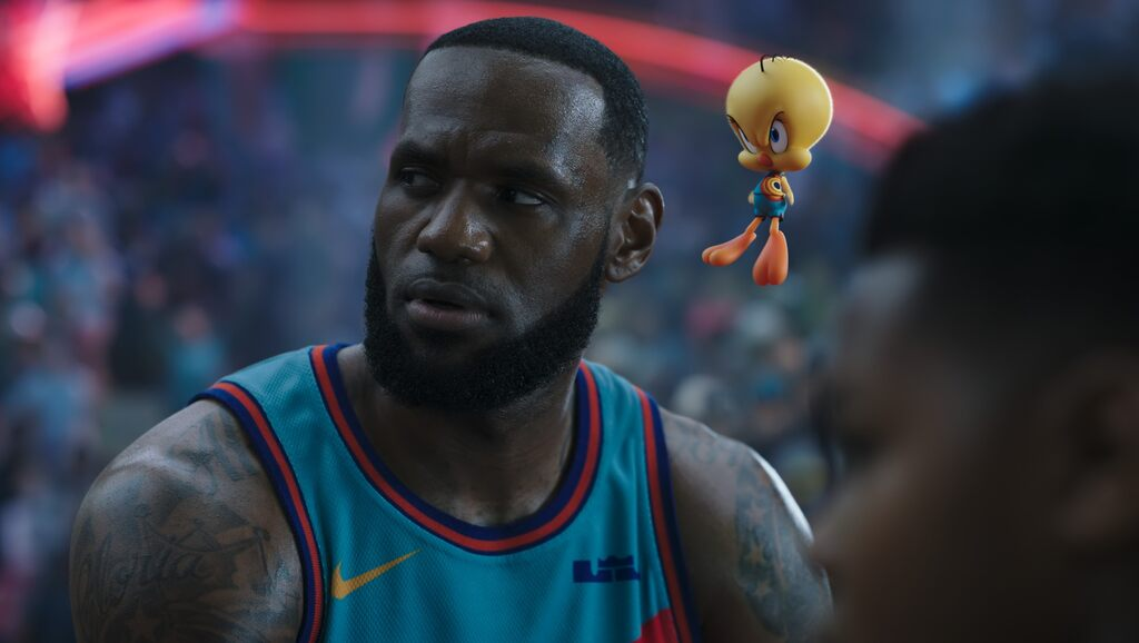 LeBron James tackles water in a digital sequel to 'Space jam'