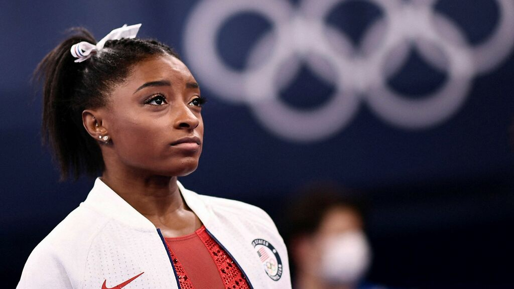 Simon Biles withdrew from the team final in gymnastics