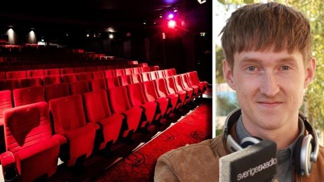 Tomma biostolar och en porträttbild på kulturnytts reporter Joakim Silverdal.