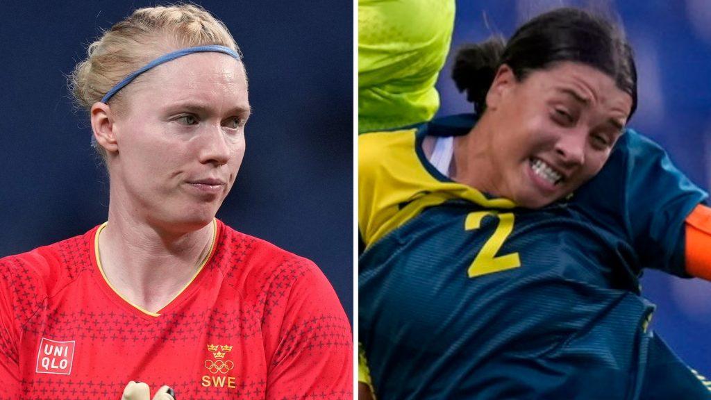 Sweden's response to Sam Kerr's salute