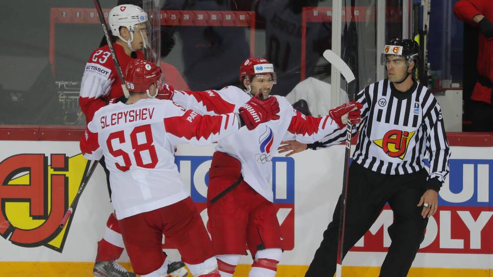 The Russian national team defeated Switzerland.
