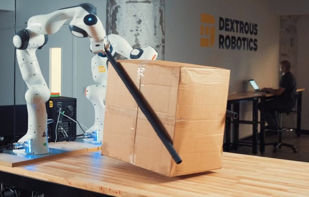 They see chopsticks as the best solution for a bundle robot