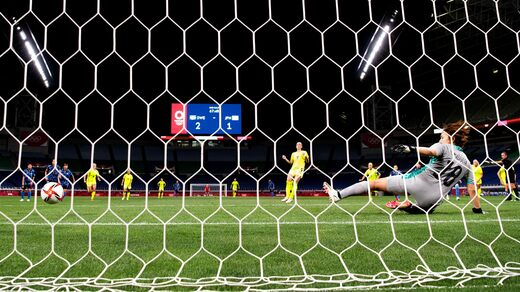 Kosovar Aslani scored a 3-1 victory over Japan on penalties in the Olympic quarter-finals.