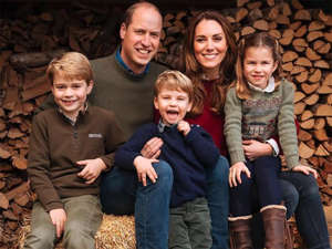 Prince William and his Kate with their three sweet children.