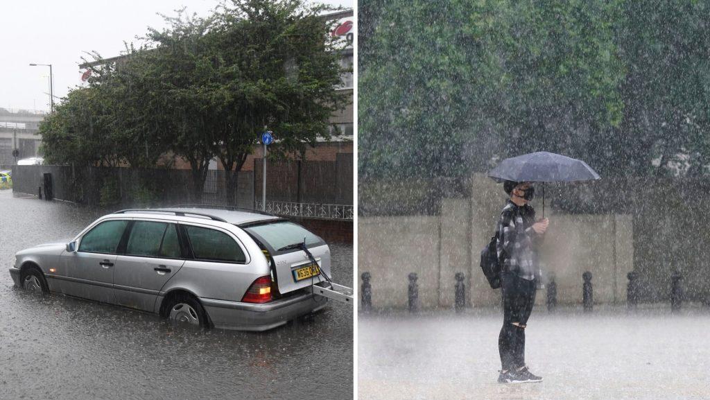 """Heavy rain in London: """"Never seen before"""""""