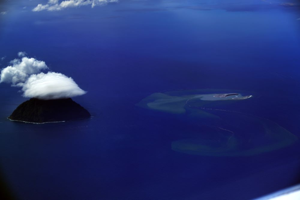 New Japanese island formed by volcanic eruption