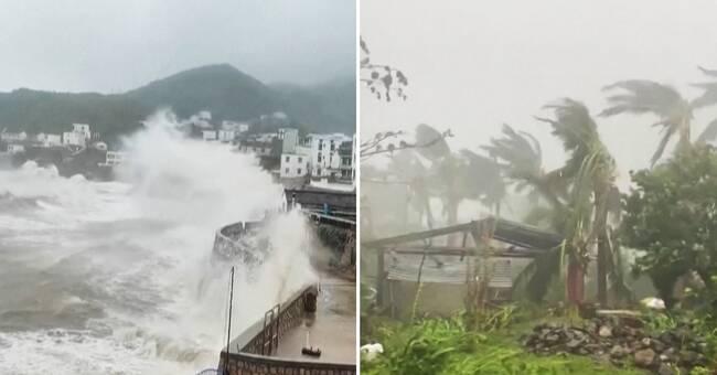 Typhoon Chanthu pulls back over Shanghai
