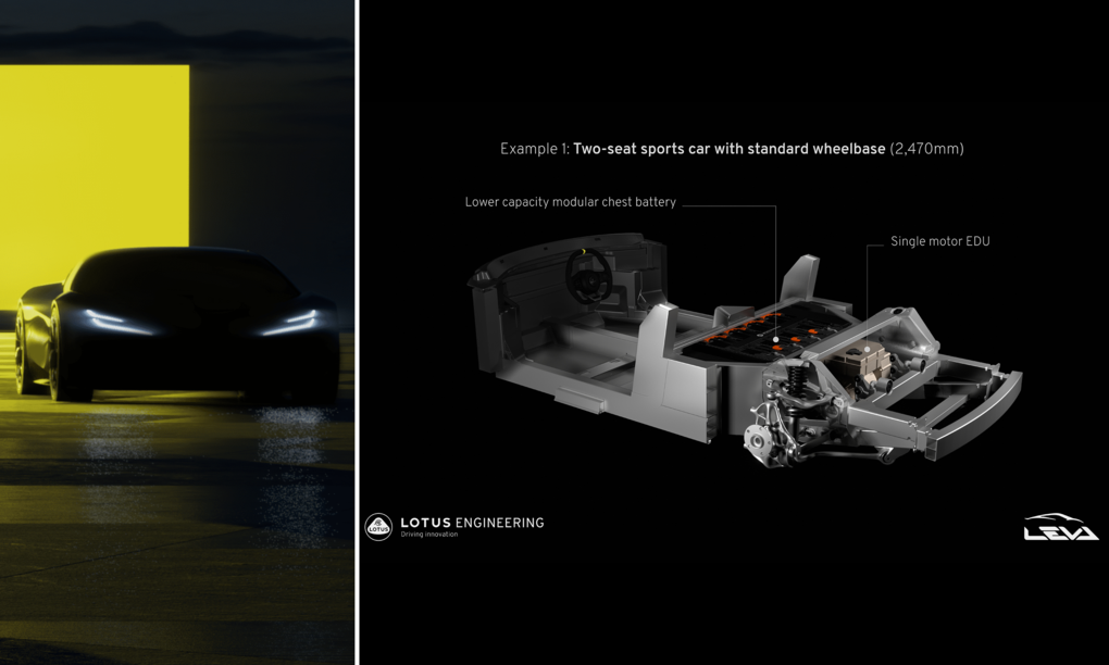Lotus shows a lightweight platform for electric sports cars