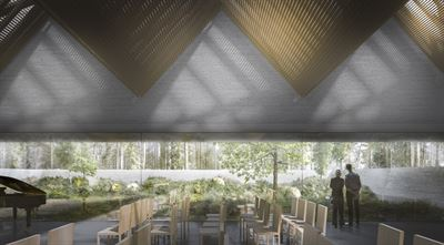 White Architects has been commissioned to design Skövde's new crematorium - a building that provides comfort