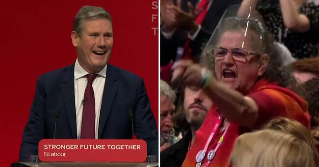 Labor leaders are staged at the party convention - ridiculed by the audience