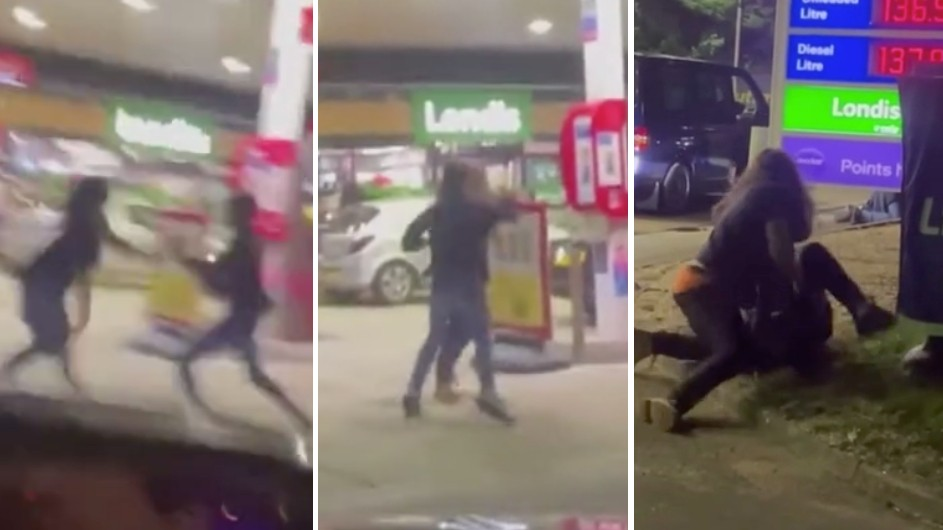 Petrol chaos continues in UK - Wild riot at gas station