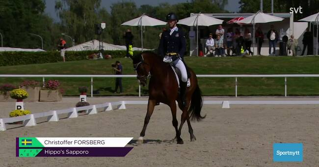 Sweden 10th after first dressage day