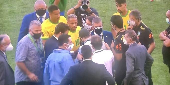 The match between Brazil and Argentina was canceled - for infectious reasons