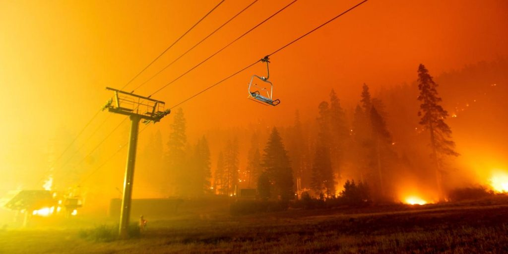 The second largest wildfire in California history