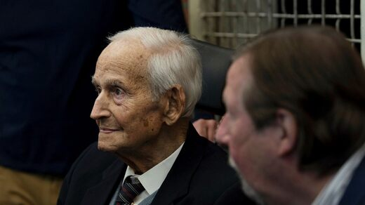 100-year-old Leon Schwarzbaum escaped from Auschwitz.  He is present at the trial hoping to hear Joseph S. plead guilty.