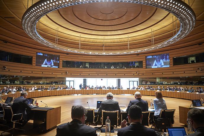 Mötessalen i Luxemburg